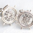 Steampunk SHIP'S WHEEL Cufflinks Boat Ship Nautical AS