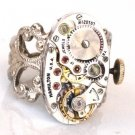 Steampunk Oval WATCH MOVEMENTS Ring Mechanical Parts
