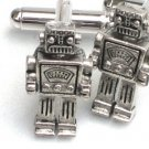 Steampunk MR ROBOT Cufflinks Retro Geekery Toy Robo AS