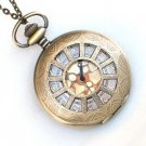 Steampunk WINDOWS - TIME Pocket Watch Movement Necklace