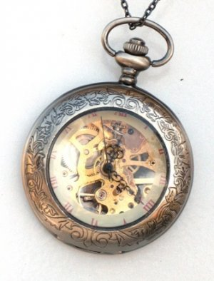 Steampunk SHERLOCK Pocket Watch Mechanical Movement