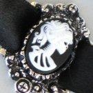 Steampunk Cameo Necklace - SKELETON LADY Chocker Gothic