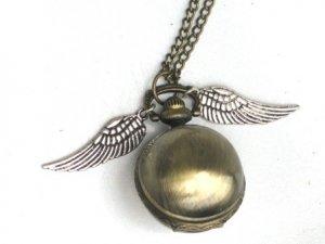 STEAMPUNK Golden Snitch WATCH Necklace Harry Potter