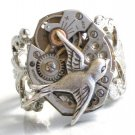 Steampunk HUNGER GAMES Bird Ring Watch Movements parts