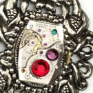 Steampunk BOLD GOTHIC Necklace Watch Movements Parts