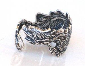 Steampunk DRAGON RING Sea Serpent Gothic Goth AS