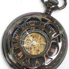 Steampunk VINTAGE FLOWER Pocket Watch Mechanical Chain