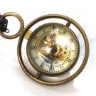 Steampunk Harry Potter TIME TURNER Necklace - Mechanical Skeleton Pocket Watch