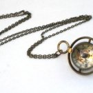 Steampunk Harry Potter TIME TURNER Brass Chain Necklace Mechanical Pocket Watch