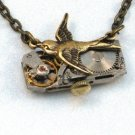 Steampunk SOARING BIRD Hunger Games Vintage Watch Movements Necklace Style 5