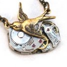 Steampunk SOARING BIRD Hunger Games Vintage Watch Movements Necklace Style 4