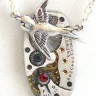Steampunk SOARING BIRD Hunger Games Vintage Warch Movements Necklace Style 2