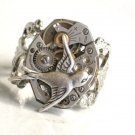 Steampunk SOARING BIRD Hunger Games Vintage Watch Movements Ring