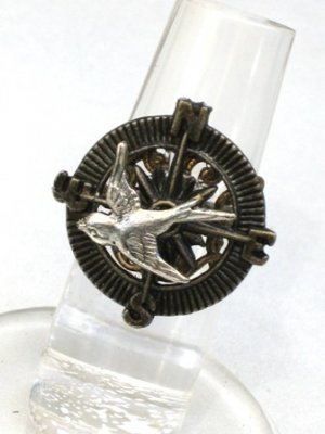 Steampunk - HUNGER GAMES Soaring Bird and Compass Ring