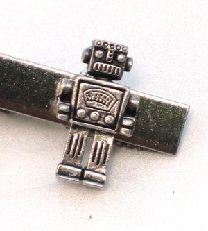 Steampunk MR ROBOT Men's Tie Bar Clip Pin Geekery AS