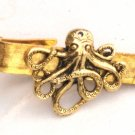 Steampunk OCTOPUS Nautical Men's Tie Bar Clip pin AG