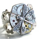 Steampunk DRAGONFLY WATCH MOVEMENTS Ring Mechanical