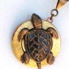 Steampunk TURTLE LOCKET Necklace NAUTICAL Pendant AB1
