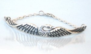 Steampunk Sweet SWAN Bracelet Bird Feather Fly AS