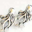 Steampunk OCTO CUFFLINKS Antique Silver Nautical Ocean