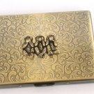Steampunk Metal SPEAK HEAR SAY No Evil Cigarette Case Wallet Large Card Case