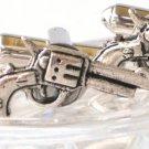 Steampunk Wild Guns Men's Cufflinks Cuff Links Antique Silver Groomsman Gift