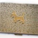 Steampunk Metal SCOTTY DOG  Cigarette Case Slim Wallet Large Card Case ASB1