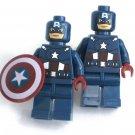 CAPTIN AMERICA Men's Cufflinks - Minifigure - Lego® - Marvel - Avengers -