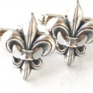 Steampunk FLEUR DE LIS Cuff Links Antique Silver New Orleans Saints Cufflinks