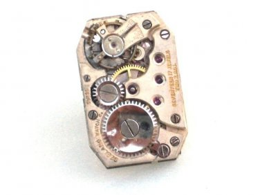 Steampunk elegant Rectangle WATCH MOVEMENT Element Tie Pin Clip Grooms man Gift