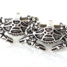 Steampunk NAUTICAL CRAB CUFFLINKS Antique Silver Tiny Steam Punk Cuff Links