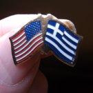 GREECE/USA FLAG PIN