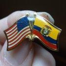 ECUADOR/USA FLAG PIN