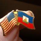 HAITI/USA FLAG PIN
