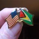 GUYANA/USA FLAG PIN