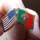 PORTUGAL/USA FLAG PIN