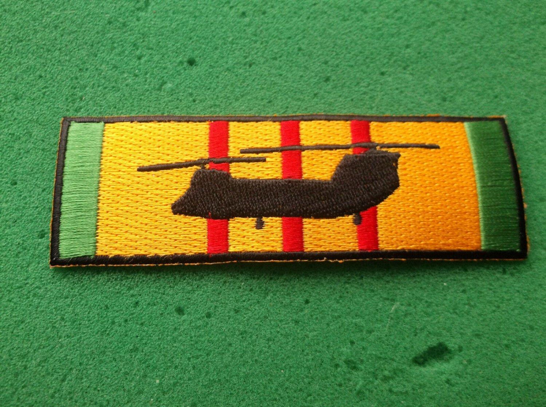 CH-47 Sea Knight Silhouette On Vietnam Service Ribbon Patch