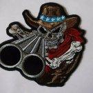 Shotgun Willy Cowboy Skull Biker Patch