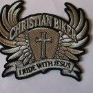 Christian Biker I Ride With Jesus Biker Patch