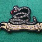 Don't Tread On Me Snake Biker  Patch