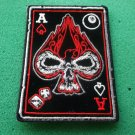 Ace Of Spades Skull Biker Patch