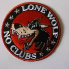 Lone Wolf No Clubs Biker Patch