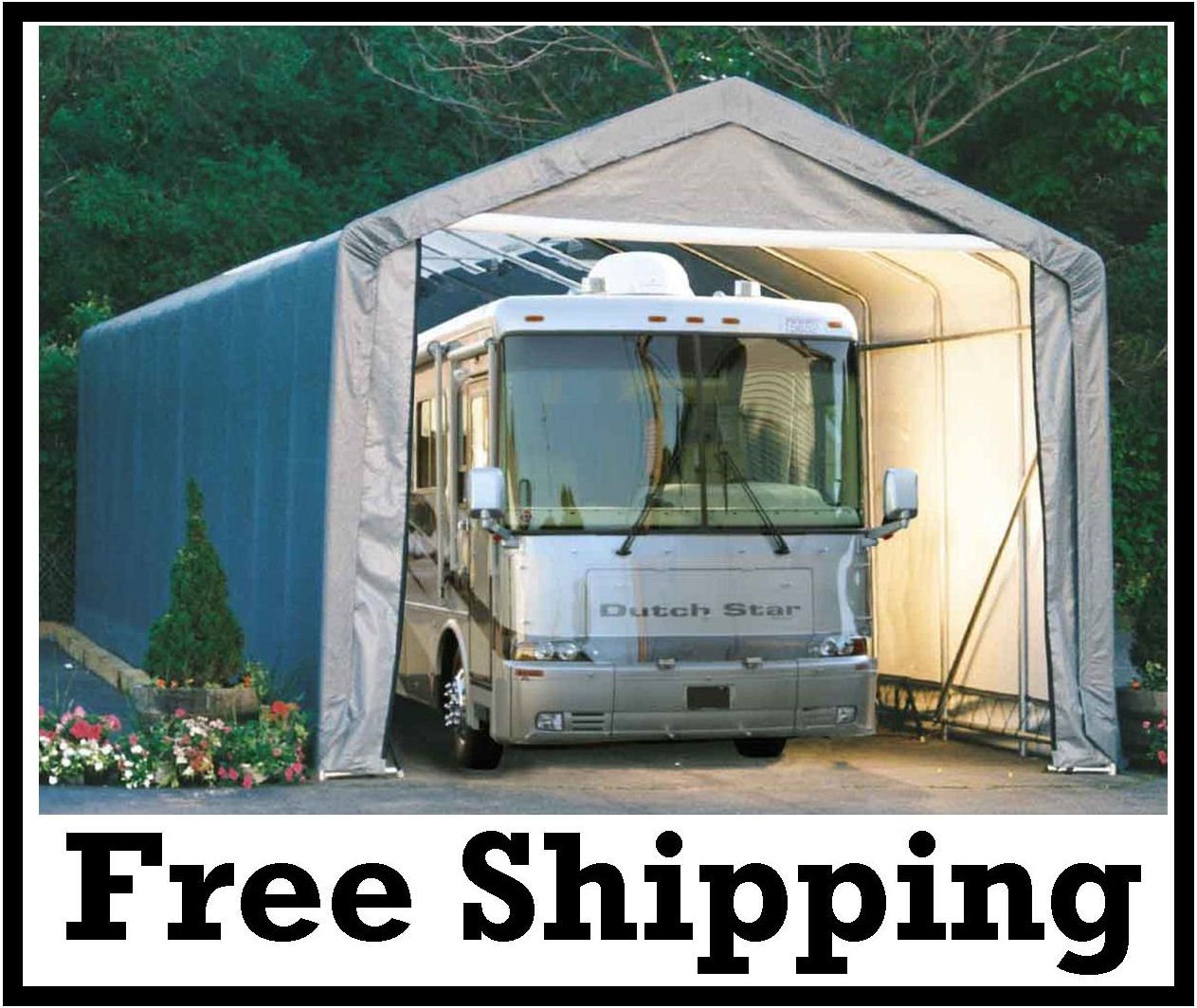15x40x16-ShelterLogic-MotorHome-RV-Portable-Garage-Shelter ...