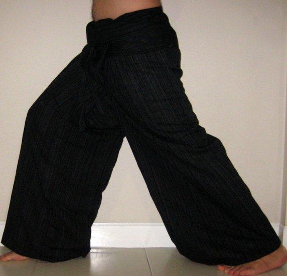 Thai Plus Size XXXL 3XL Cotton Fisherman Yoga Pants CHARCOAL