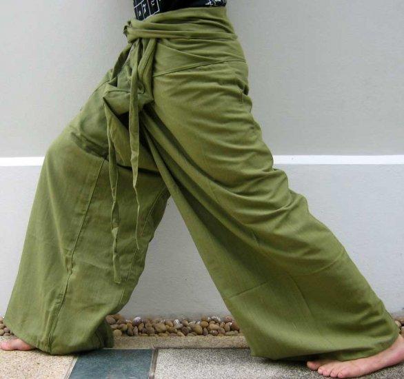 Thai cotton drill fisherman pants yoga dance trousers for Men s fishing apparel