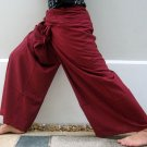 Thai PLUS SIZE XXL Rayon FISHERMAN Yoga Pants Burgundy FREE SHIPPING