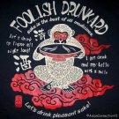 FOOLISH DRUNKARD New RONIN Japan T-shirt S Dk Blue BNWT