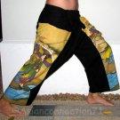 Utamaro Ukiyoe Art Print Thai Cotton Fisherman Pants Freesize S-XXL