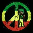 PEACE Symbol ONE LOVE New  Roots Reggae T-shirt M L XL