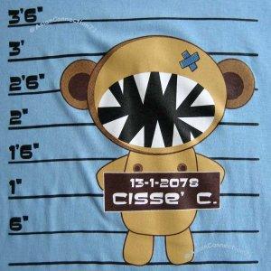 CISSE CONVICT CRIMINAL New T-Shirt Asian M Blue BNWT!